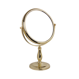 Gold Freestanding Mirror 5x
