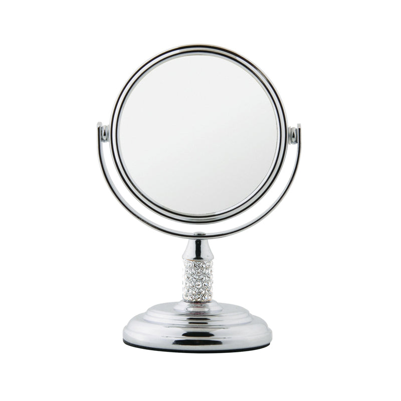 Embellished Chrome Freestanding Mirror 5x