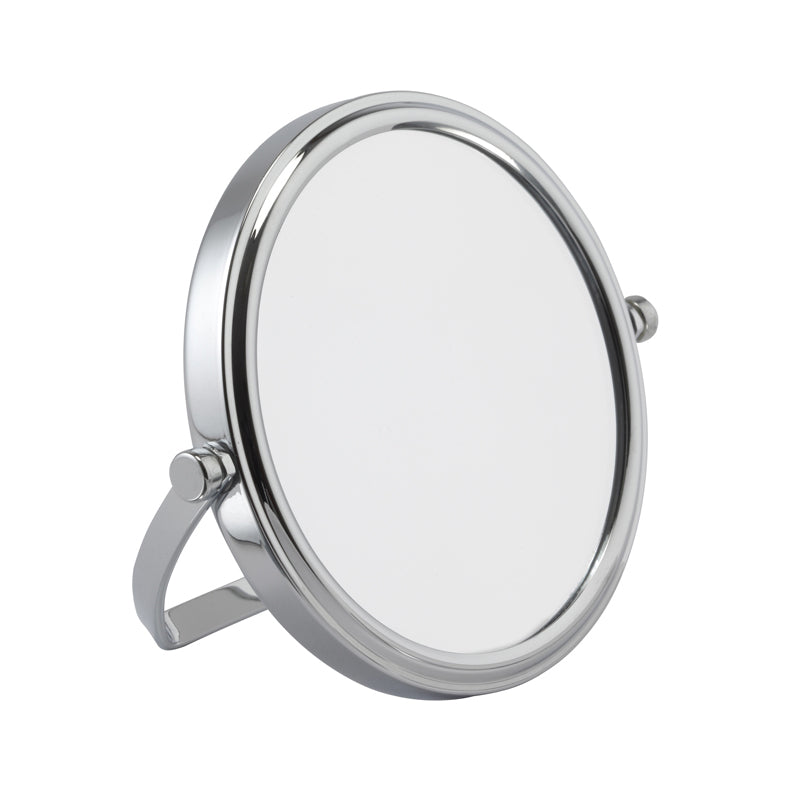 Small Chrome Freestanding Mirror 7x