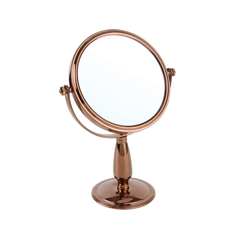 Rose Gold Freestanding Mirror 7x