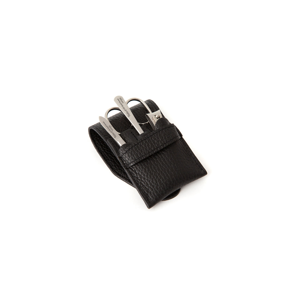 Black Manicure Set with Stainless Steel Implements (XS)