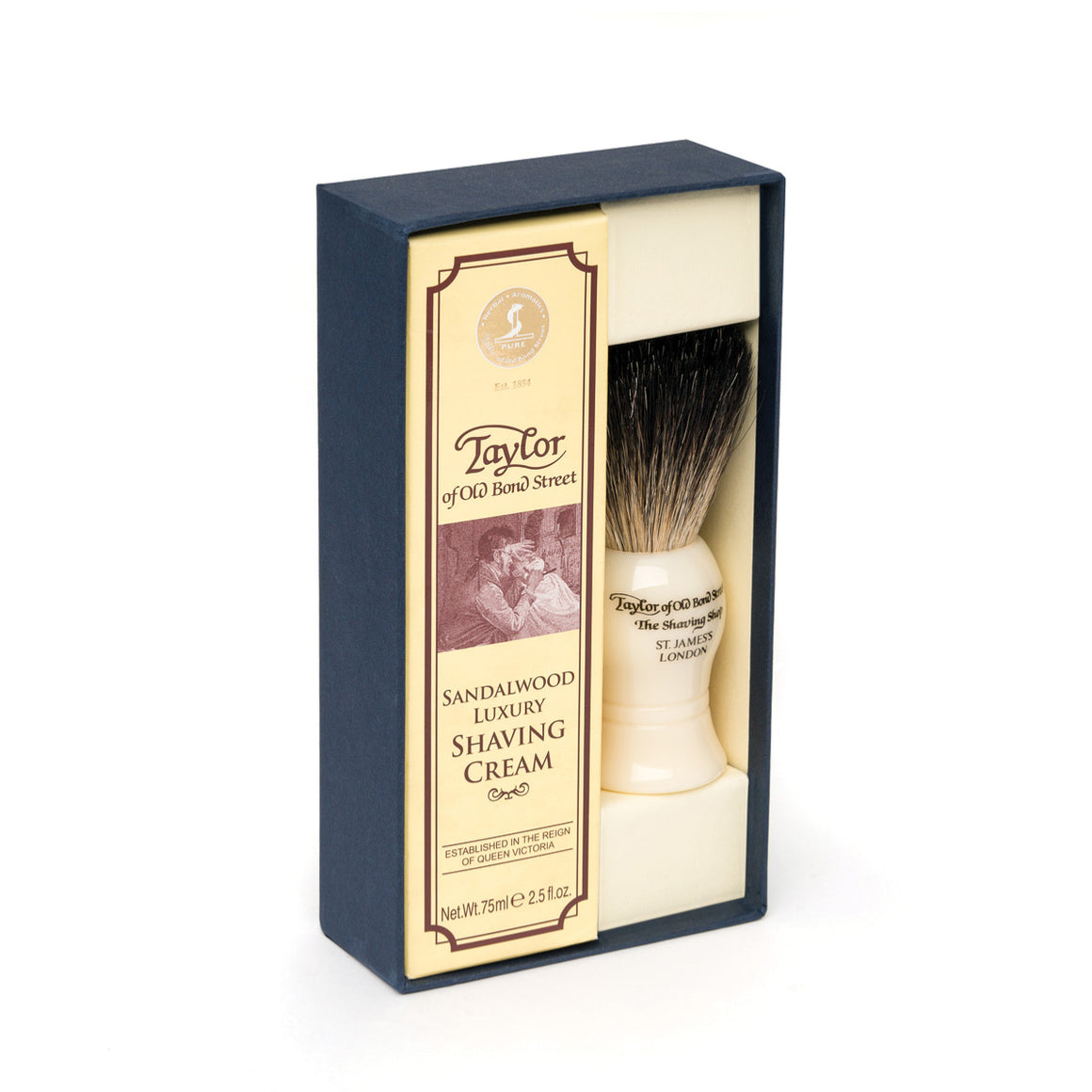 Pure Badger & Sandalwood Shaving Cream 75ml Gift Box