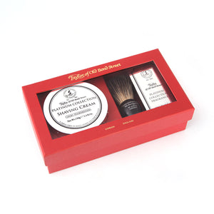 Black Badger Brush, Platinum Shaving Cream & Fragrance Gift Box