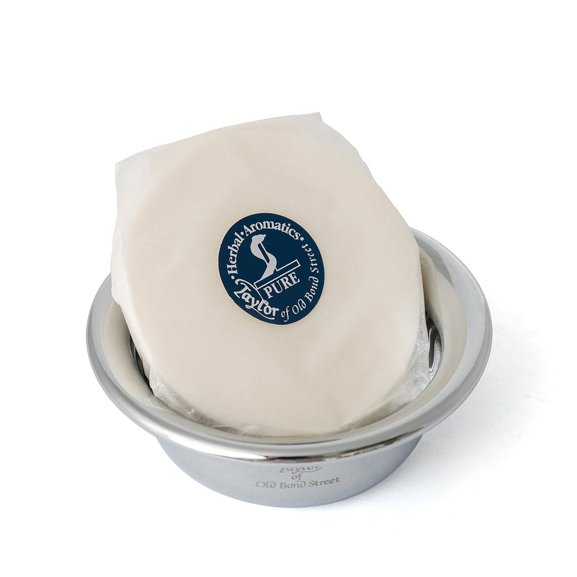 Traditional Shaving Soap Refill 57g in Nickel Bowl