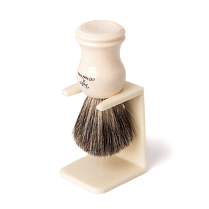 Imitation Ivory Shaving Brush Drip Stand