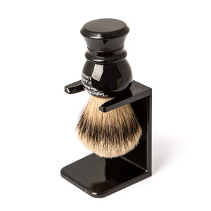 Black Shaving Brush Drip Stand