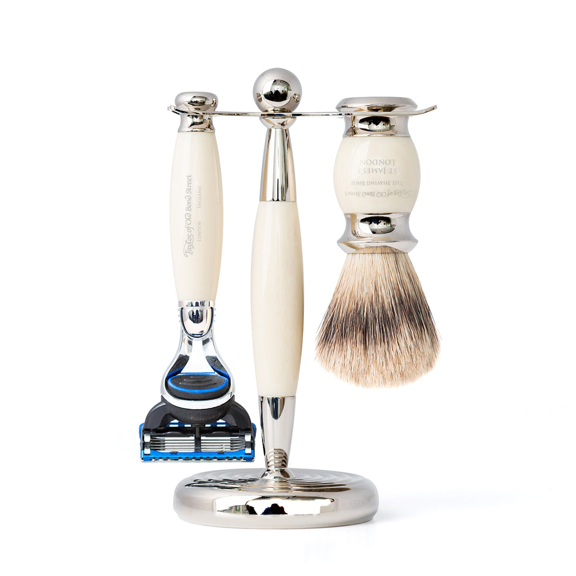 Taylor of Old Bond Street Super Fusion Edwardian Shaving Set in Black
