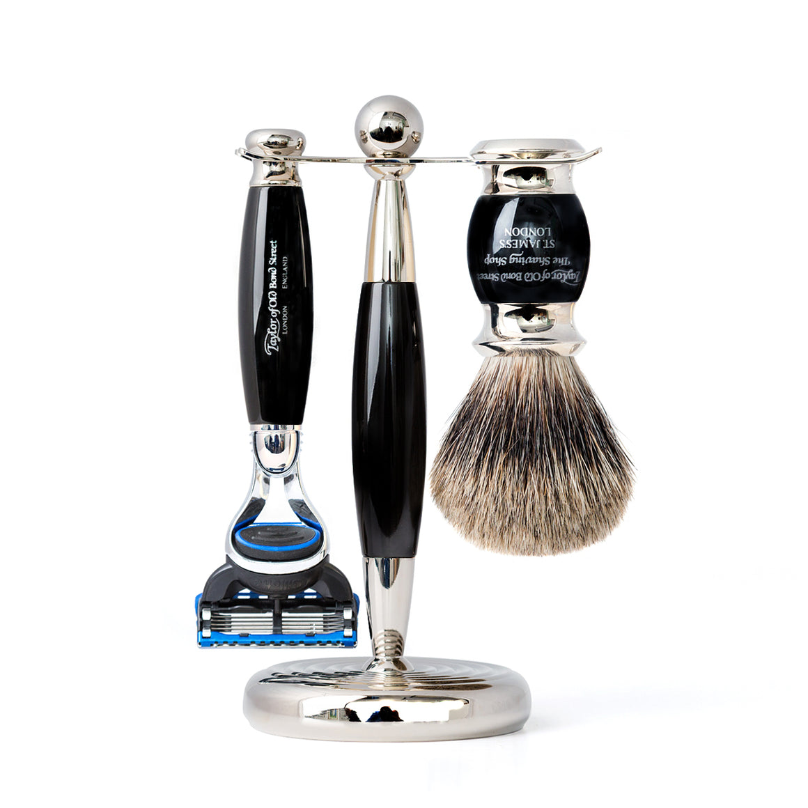 Taylor of Old Bond Street Pure Fusion Edwardian Shaving Set in Black