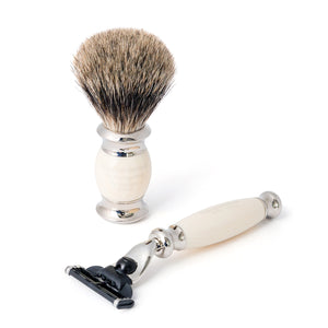 Taylor of Old Bond Street Pure Mach3 Edwardian Shaving Set in Imitation Ivory