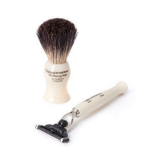 Taylor of Old Bond Street No. 74 Mach3 Shaving Set in Imitation Ivory