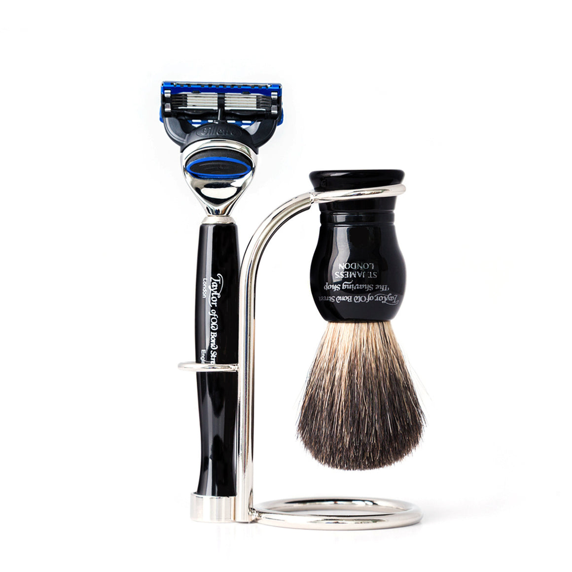 Taylor of Old Bond Street No. 74 Fusion Shaving Set in Black