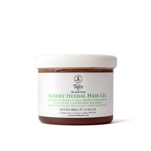 Taylor of Old Bond Street Herbal Hair Gel 400ml Bowl