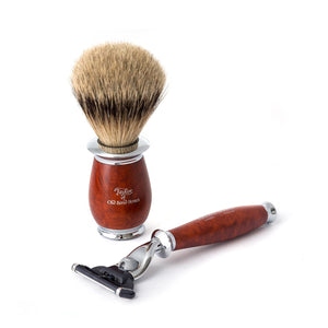Taylor Old Bond Street Super Badger Mach3 Shaving Set in Briar Wood