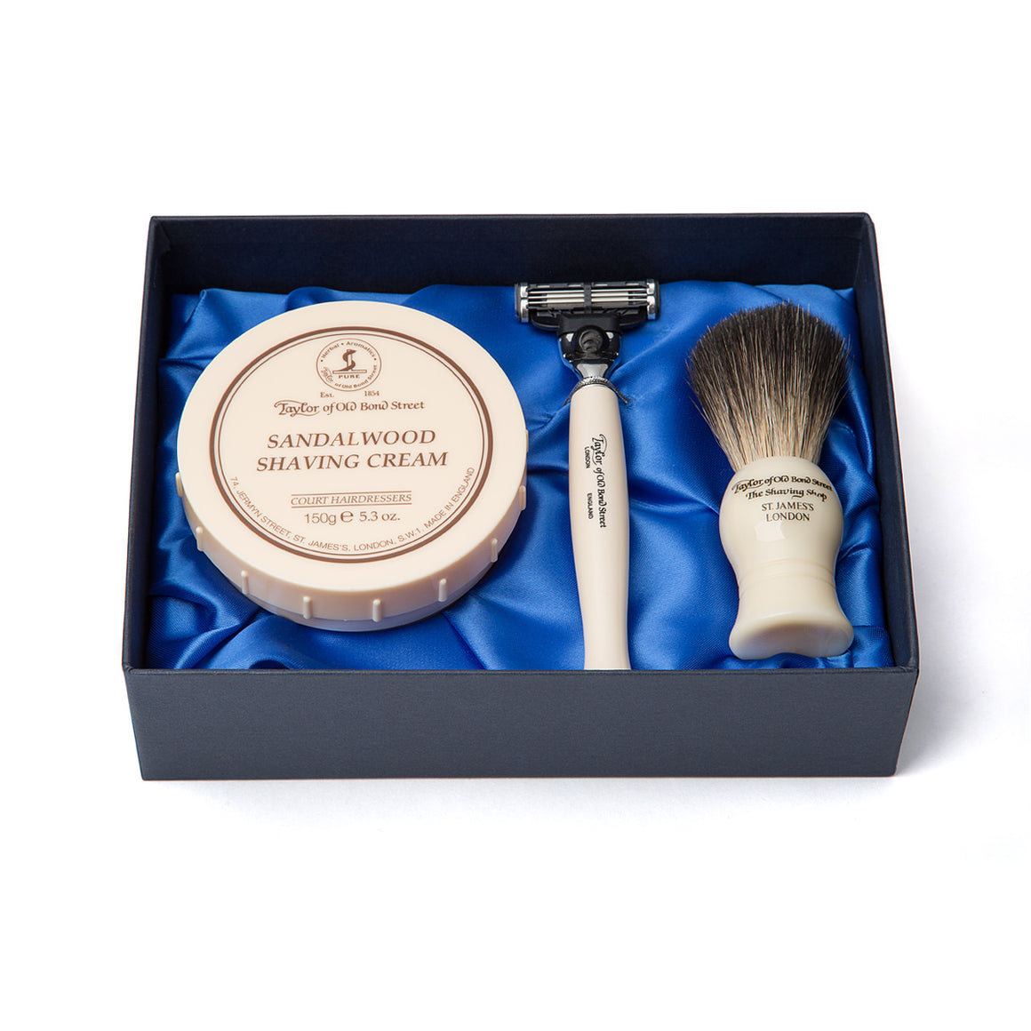 Taylor of Old Bond Street No. 74 Sandalwood Satin Lined Gift Box