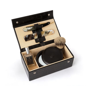 Taylor of Old Bond Street James Bond Style Leather Grooming Box