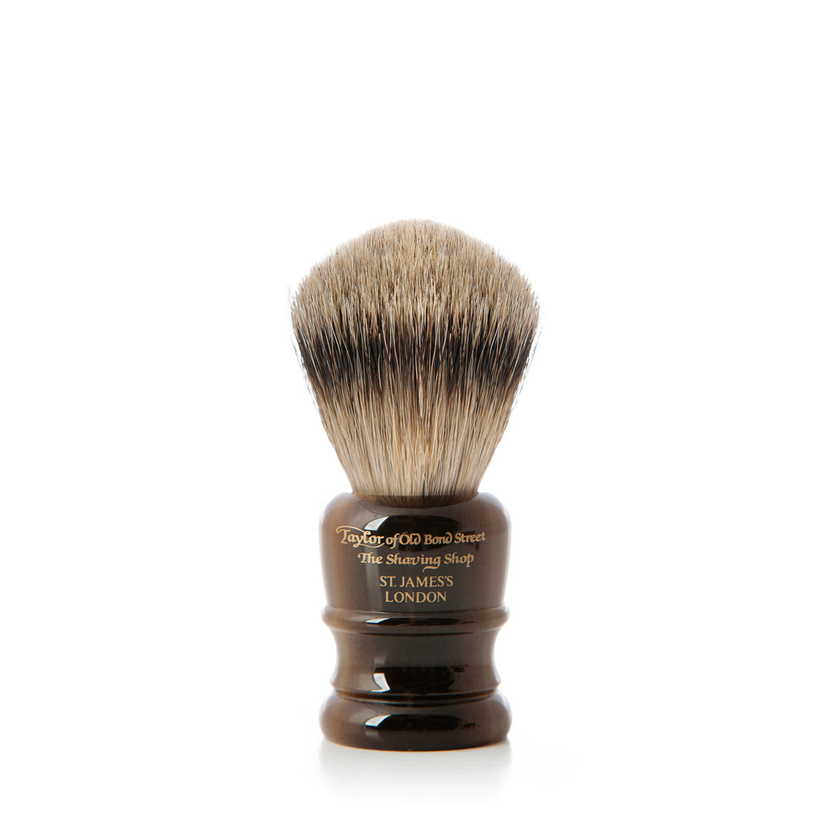 Contemporary Super Badger Shaving Brush in Faux Horn