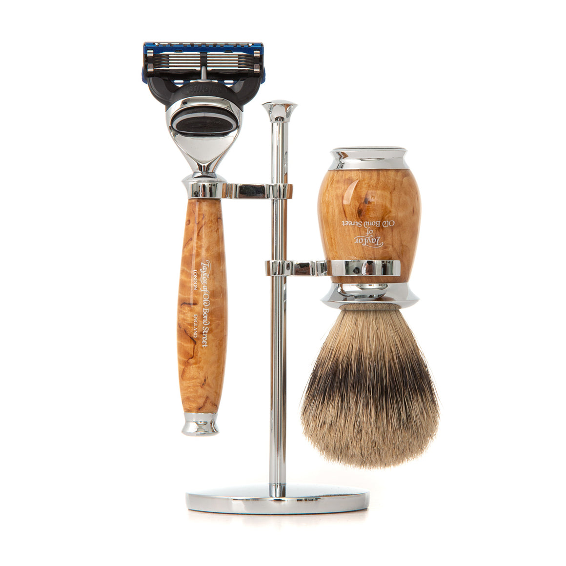 Super Fusion Shaving Set in Birch Wood
