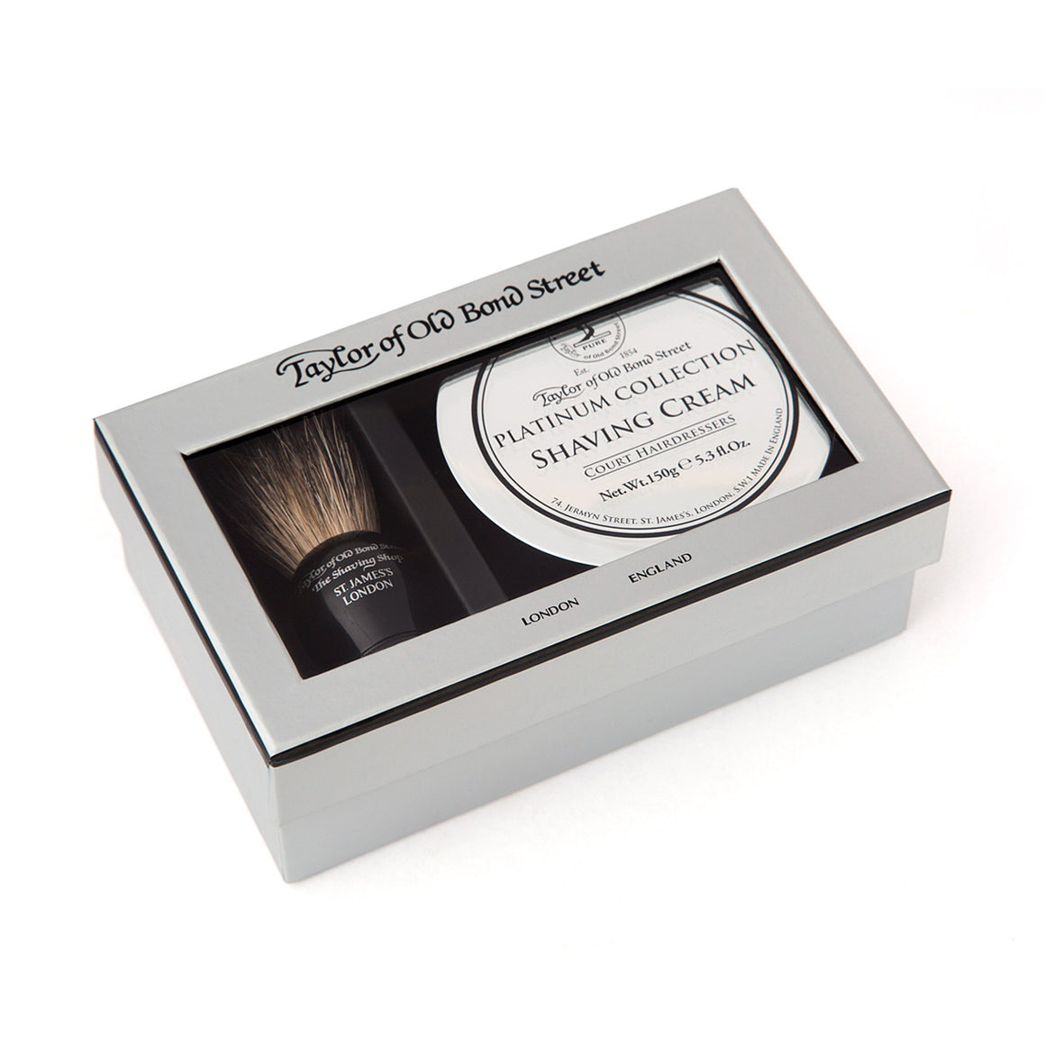Black Pure Badger & Platinum Shaving Cream Gift Box