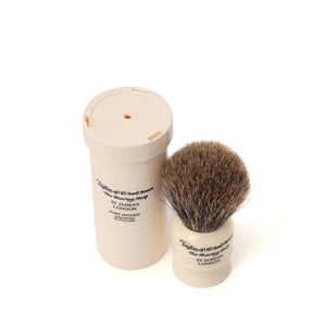 Taylor of Old Bond Street Travel Pure Badger Shaving Brush in Case