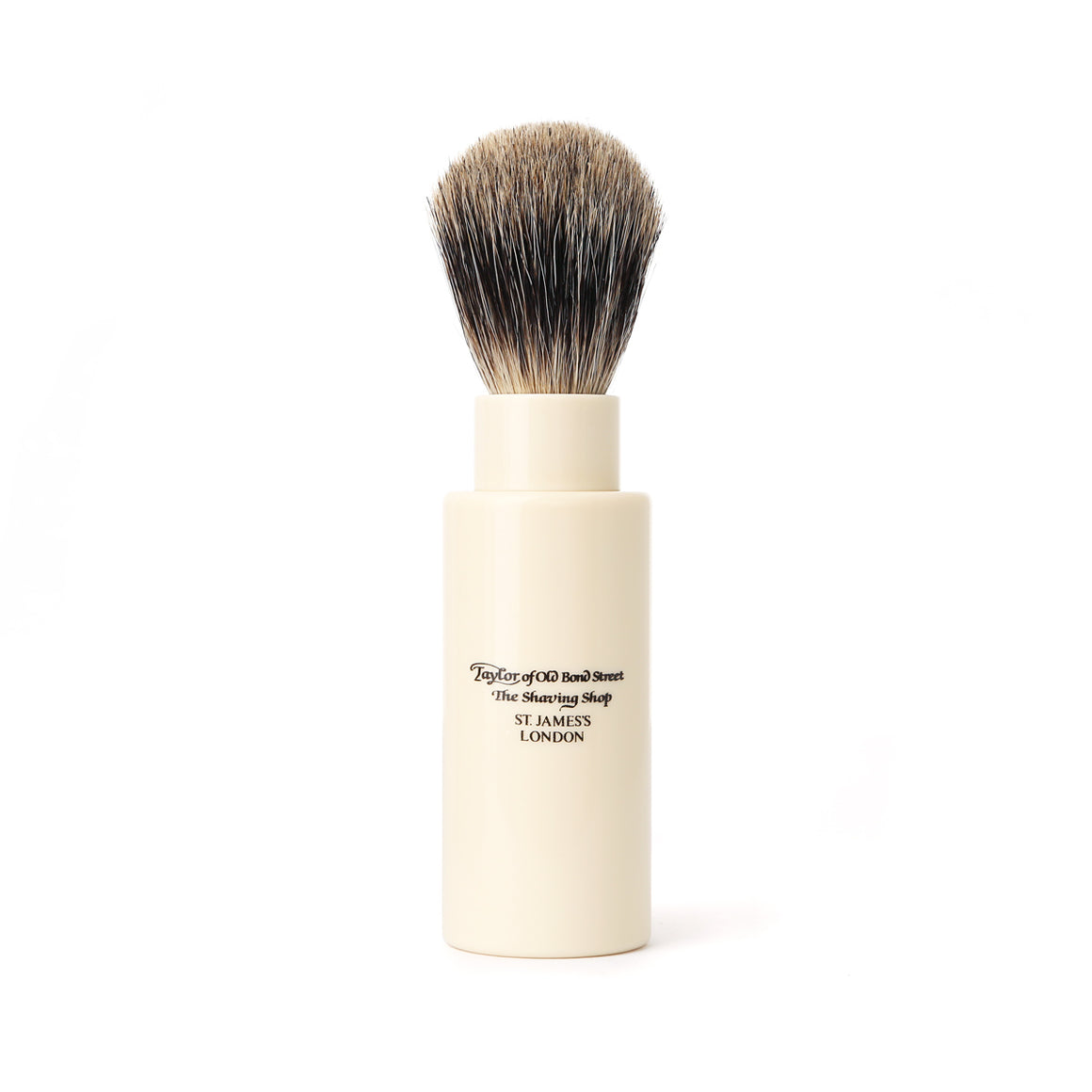 Taylor of Old Bond Street Turnback Travel Pure Badger Shaving Brush in Imitation Ivory