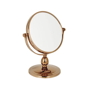 Rose Gold Freestanding Mirror 10x