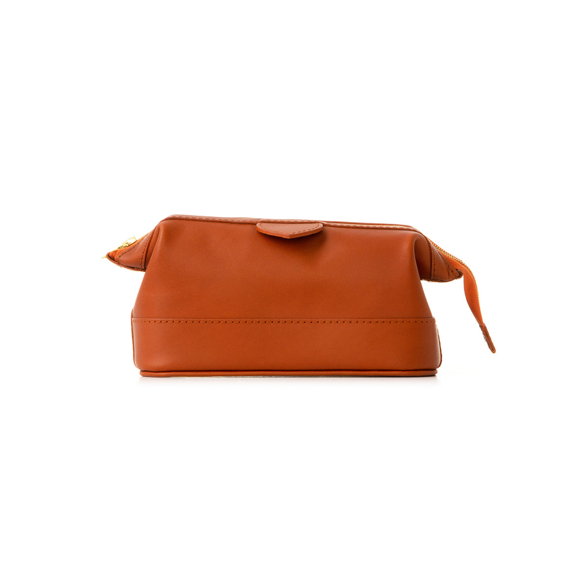 Small Tan Leather Wash Bag