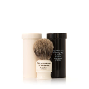 Travel Pure Badger Shaving Brush in Case