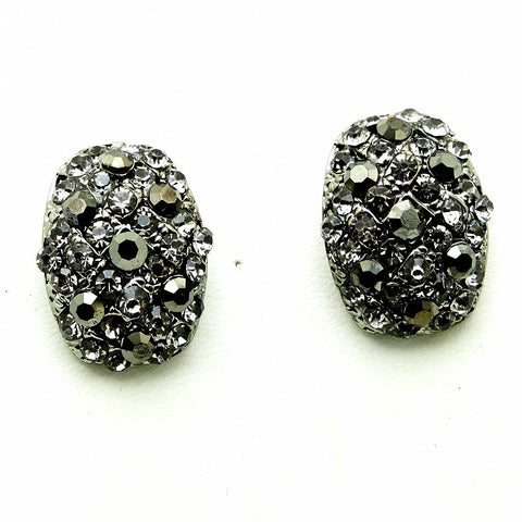 Opulent Rhinestone Eggs Earrings