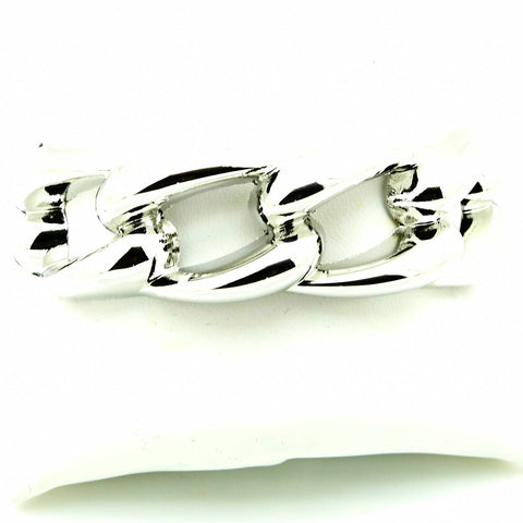 Super Style in SIlver Hinged Bracelet