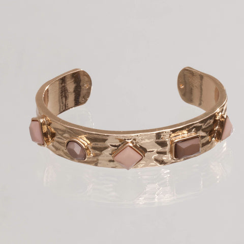Copy of Gem Studded Golden Cuff Bracelet