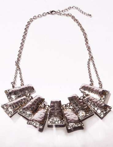 Studded Steps Lead to New Paths Necklace and Earring Set