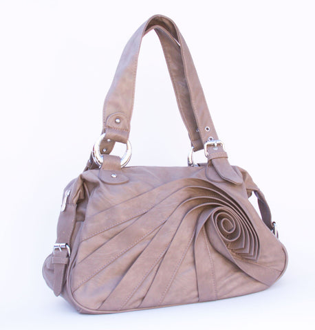 French Rose Pleated Handbag