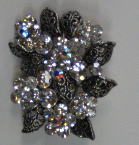 Crystal Reflections Flower Broach