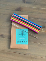 Silicone Straws (pack of 6 plus cleaning brush)