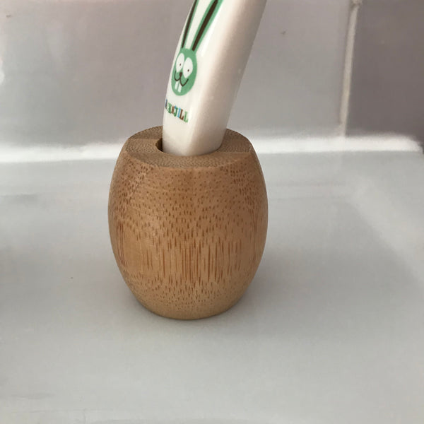 Bamboo Individual Toothbrush Holder