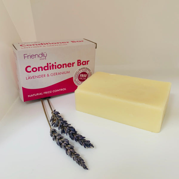 Friendly Soap - Lavender and Geranium Conditioner Bar