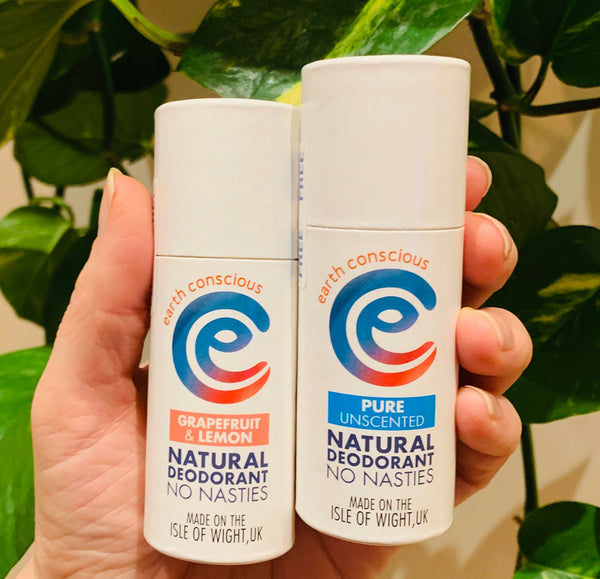 Earth Conscious Natural Deodorant Grapefruit and Lemon Stick