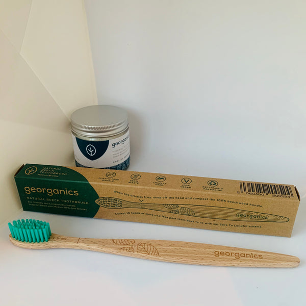 Georganics Natural Beech Toothbrush - Adult Medium