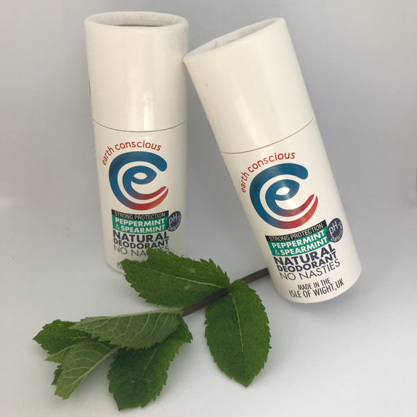 Earth Conscious Natural Deodorant Peppermint and Spearmint Stick - Strong Protection