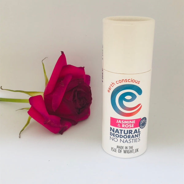 Earth Conscious Natural Deodorant Jasmine and Rose Stick