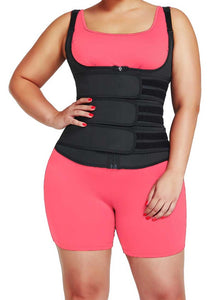 Gaine gilet fitness sport workout bretetelles fines 3 bandes - MWT® Gaine corset minceur