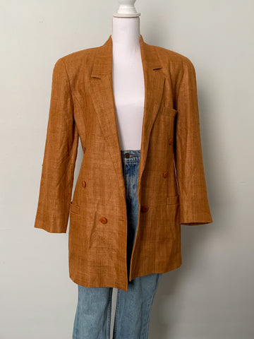 Mustard Silk Blazer - Rose Girls Vintage
