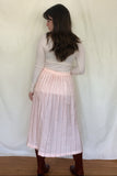 Blush Pinstripe Skirt (28w-31w)