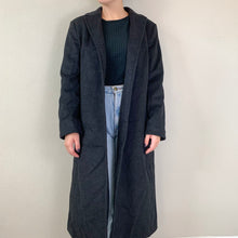 Load image into Gallery viewer, Charcoal Trench Coat - Rose Girls Vintage