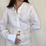 White Western Blouse