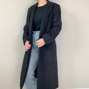 Charcoal Trench Coat - Rose Girls Vintage