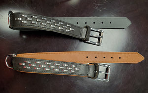 Rugged Steel Bars Leather Collar