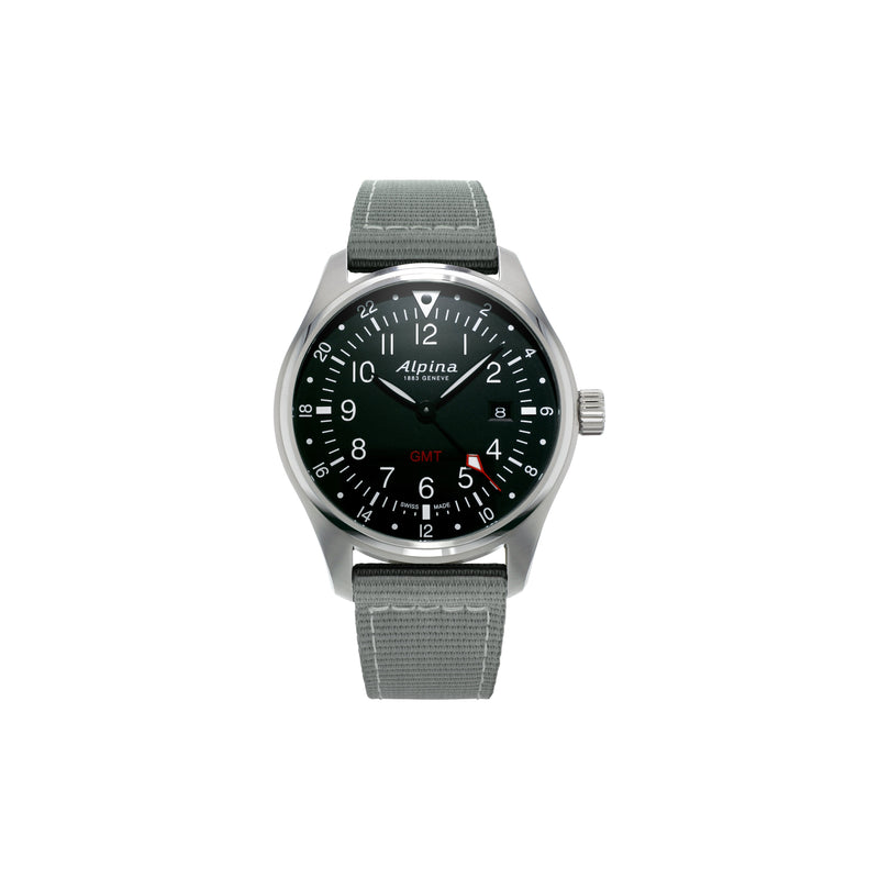 Startimer Quartz GMT 42 mm Pilot's Watch - AL-247B4S6