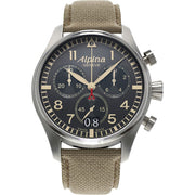 Startimer Quartz Chronograph 44 mm Pilot's Watch - AL-372BGR4S6