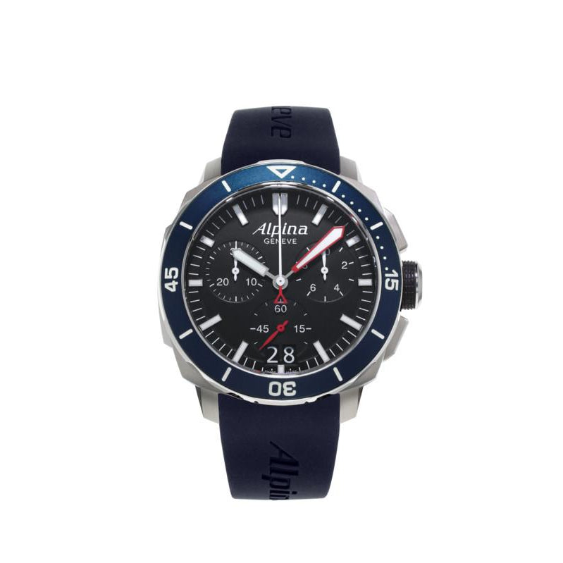 SEASTRONG DIVER 300 BIG DATE CHRONOGRAPH BLACK - AL-372LBN4V6